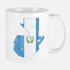 Guatemala Flag And Map Mug