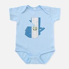 Guatemala Flag And Map Infant Bodysuit