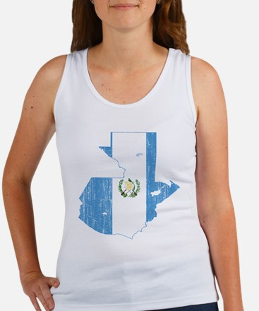 Guatemala Flag And Map Women's Tank Top