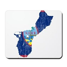 Guam Flag And Map Mousepad