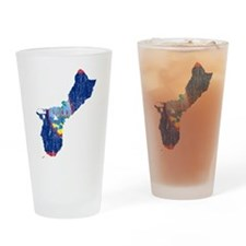 Guam Flag And Map Drinking Glass