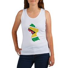 Guyana Flag And Map Women's Tank Top