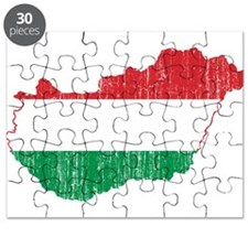Hungary Flag And Map Puzzle
