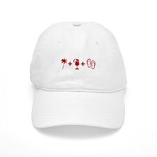 Beach Red Baseball Cap