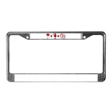 Beach Red License Plate Frame