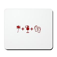 Beach Red Mousepad