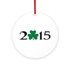 2015 shamrock Ornament (Round)