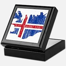 Iceland Flag And Map Keepsake Box