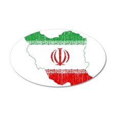 Iran Flag And Map Wall Decal
