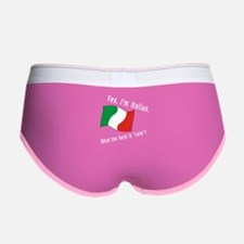 Italian Calm White Letters Women's Boy Brief