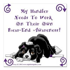 "Handler Rear-end Awareness Square Car Magnet 3"" x"