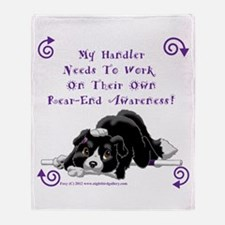 Handler Rear-end Awareness Throw Blanket