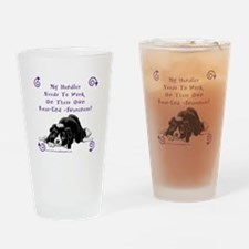 Handler Rear-end Awareness Drinking Glass