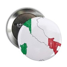 "Italy Flag And Map 2.25"" Button"