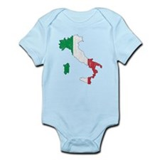 Italy Flag And Map Infant Bodysuit