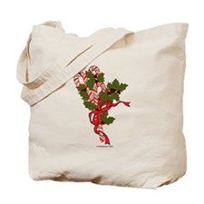 Candy Canes and Holly Tote Bag