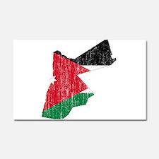 Jordan Flag And Map Car Magnet 20 x 12