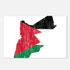 Jordan Flag And Map Postcards (Package of 8)