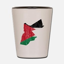 Jordan Flag And Map Shot Glass