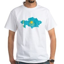 Kazakhstan Flag And Map Shirt