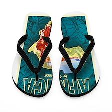 Africa Travel Poster 1 Flip Flops