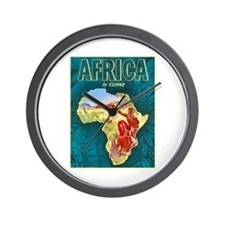 Africa Travel Poster 1 Wall Clock