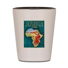 Africa Travel Poster 1 Shot Glass