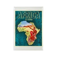 Africa Travel Poster 1 Rectangle Magnet