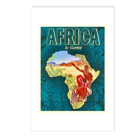 Africa Travel Poster 1 Postcards (Package of 8)
