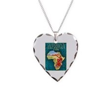 Africa Travel Poster 1 Necklace