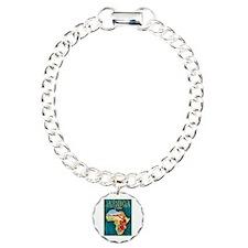 Africa Travel Poster 1 Charm Bracelet, One Charm
