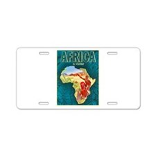Africa Travel Poster 1 Aluminum License Plate