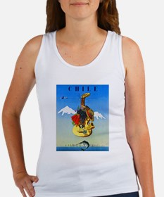 Chile Travel Poster 1 Women's Tank Top