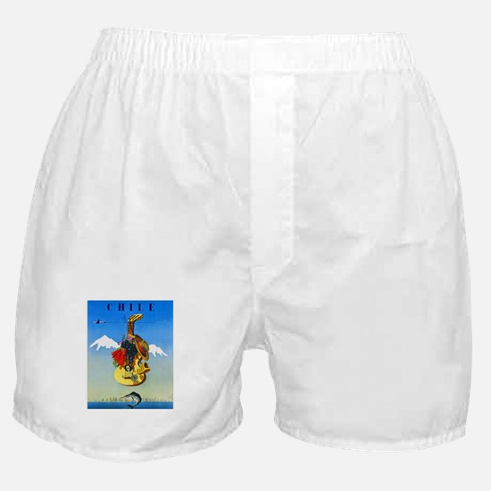 Chile Travel Poster 1 Boxer Shorts