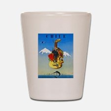 Chile Travel Poster 1 Shot Glass