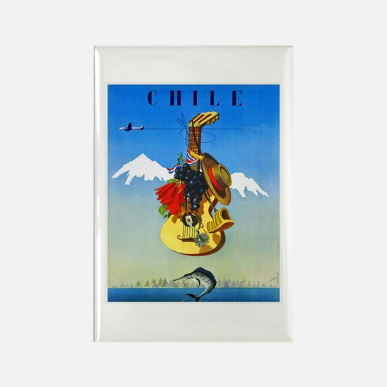 Chile Travel Poster 1 Rectangle Magnet