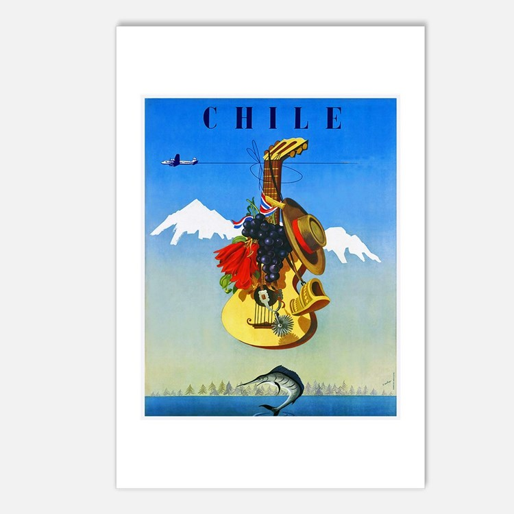 Chile Travel Poster 1 Postcards (Package of 8)