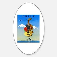 Chile Travel Poster 1 Sticker (Oval)
