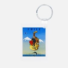 Chile Travel Poster 1 Keychains