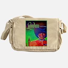 London Travel Poster 1 Messenger Bag