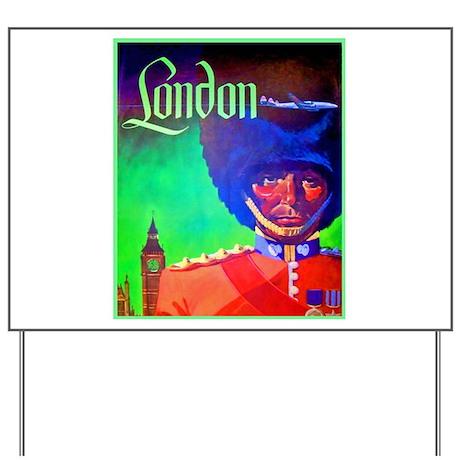 London Travel Poster 1 Yard Sign