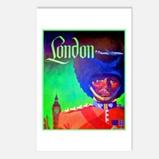 London Travel Poster 1 Postcards (Package of 8)