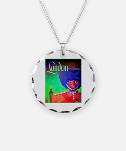 London Travel Poster 1 Necklace