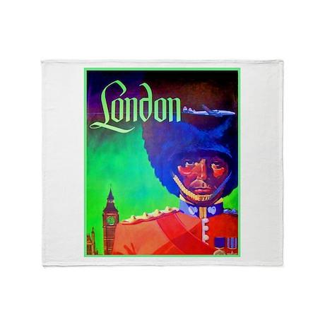 London Travel Poster 1 Throw Blanket