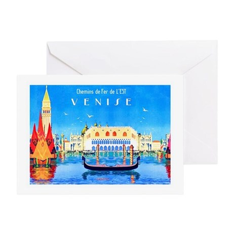Venice Travel Poster 3 Greeting Card