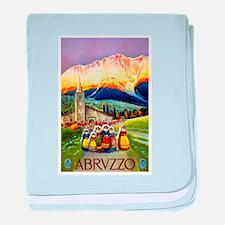 Abruzzo Italy Travel Poster 1 baby blanket