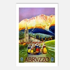 Abruzzo Italy Travel Poster 1 Postcards (Package o