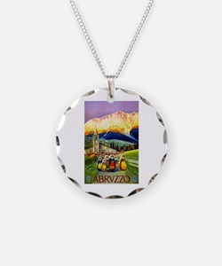 Abruzzo Italy Travel Poster 1 Necklace