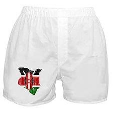 Kenya Flag And Map Boxer Shorts