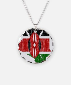 Kenya Flag And Map Necklace